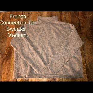 French Connection - Tan Sweater, Medium